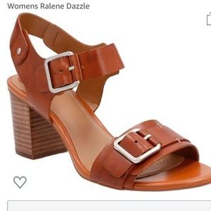NWOT Clarks Ralene Dazzle Tan Sandal High heel